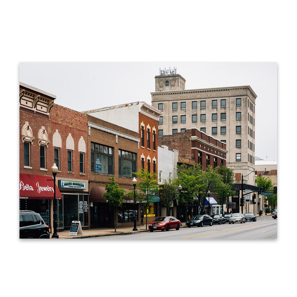 Downtown Aurora Illinois Metal Art Print