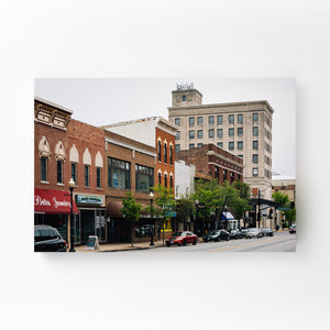 Downtown Aurora Illinois Mounted Art Print