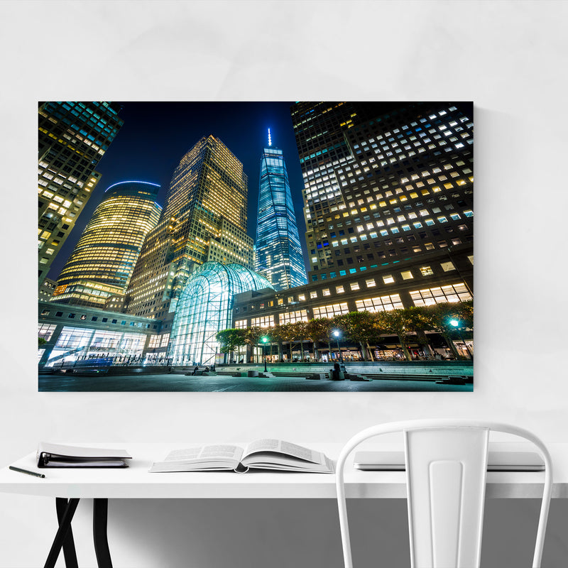 Lower Manhattan Skyline NYC Canvas Art Print