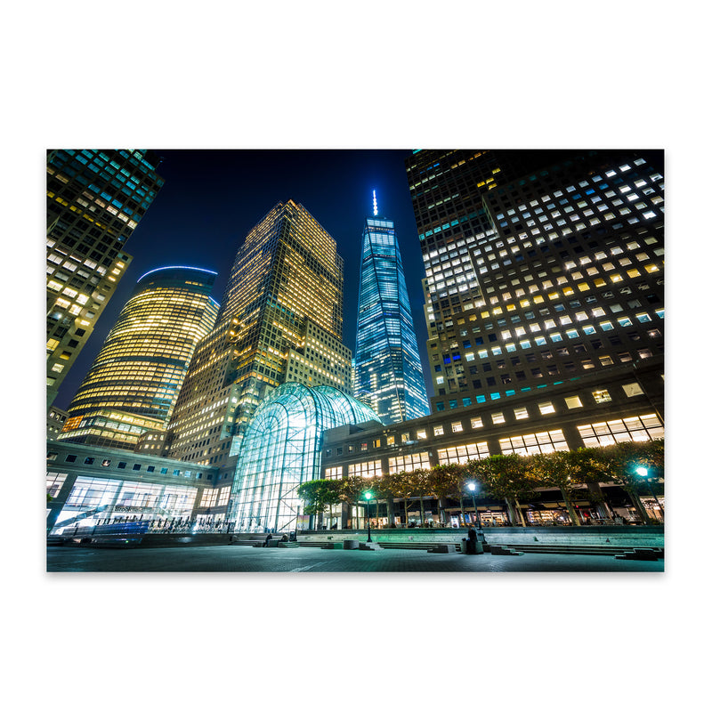 Lower Manhattan Skyline NYC Metal Art Print