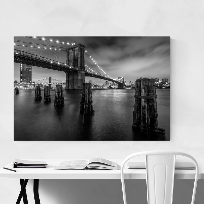 Brooklyn Bridge New York City Metal Art Print
