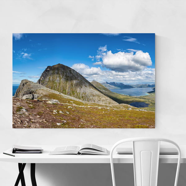 Fjord Norway Mountain Landscape Art Print