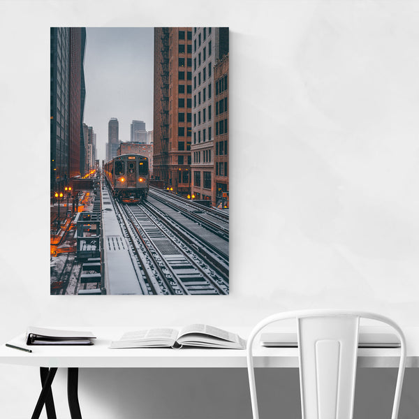 Chicago Snow Storm Winter City Art Print