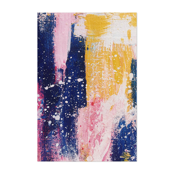 Brush Abstract Splatter Painting Art Print