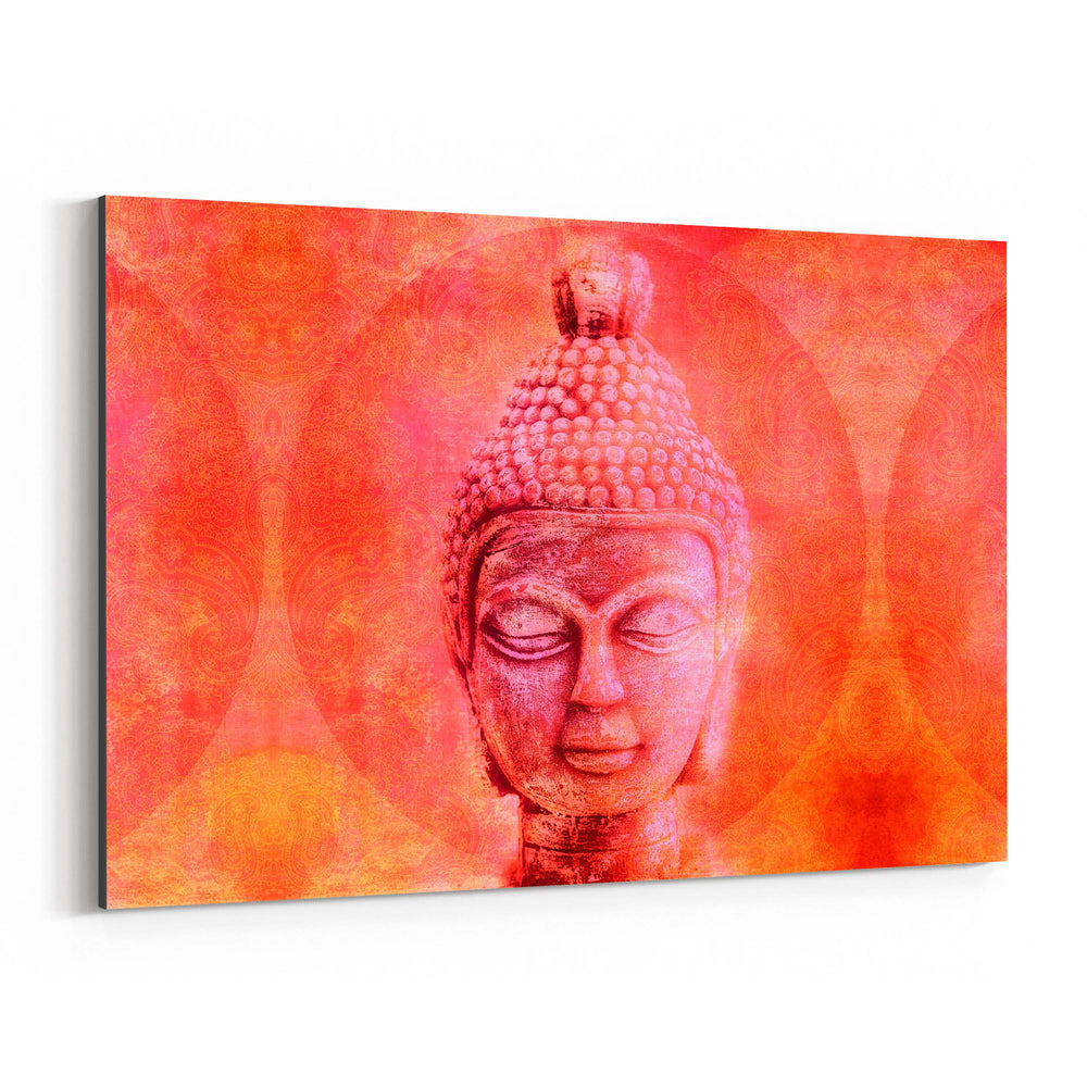 Buddha Head Buddhism Spiritual Canvas Art Print