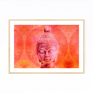 Buddha Head Buddhism Spiritual Framed Art Print