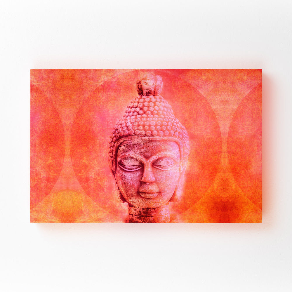 Buddha Head Buddhism Spiritual Mounted Art Print
