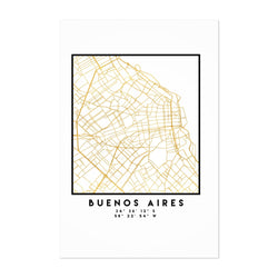 Minimal Buenos Aires City Map Art Print