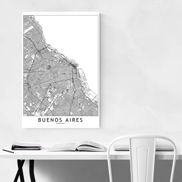 Buenos Aires Argentina City Map Art Print