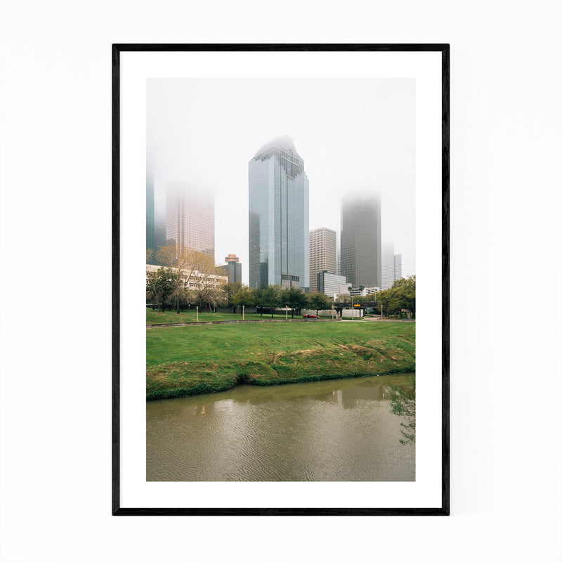 Houston Texas Cityscape Skyline Framed Art Print