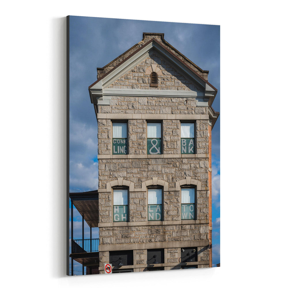 Highlandtown Baltimore Photo Canvas Art Print