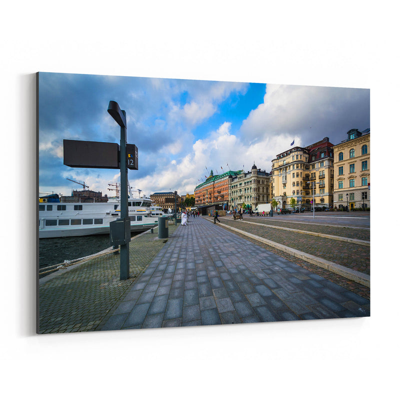 Stockholm Sweden Waterfront Canvas Art Print
