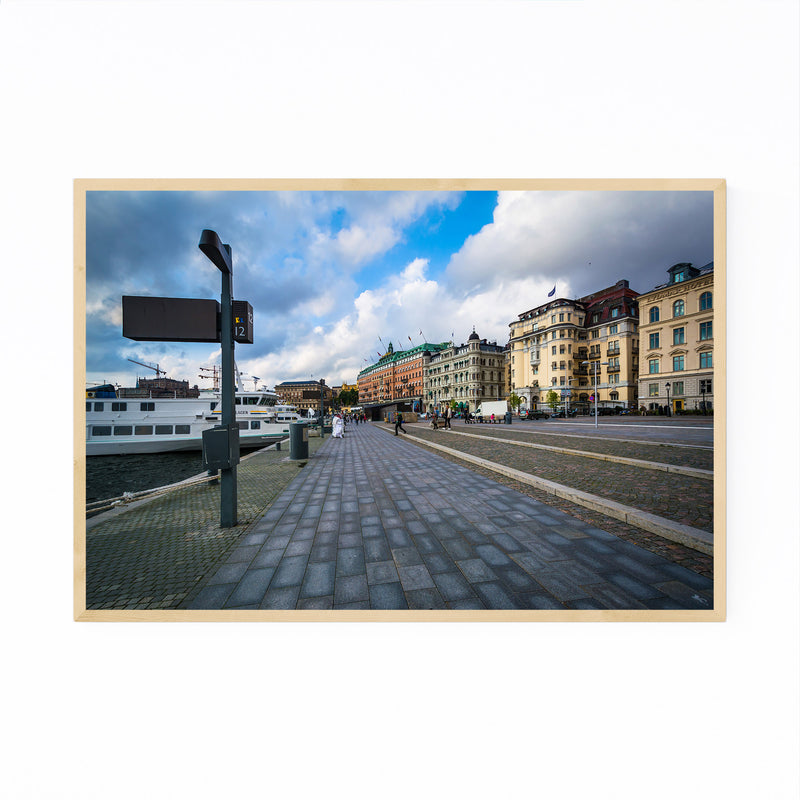 Stockholm Sweden Waterfront Framed Art Print