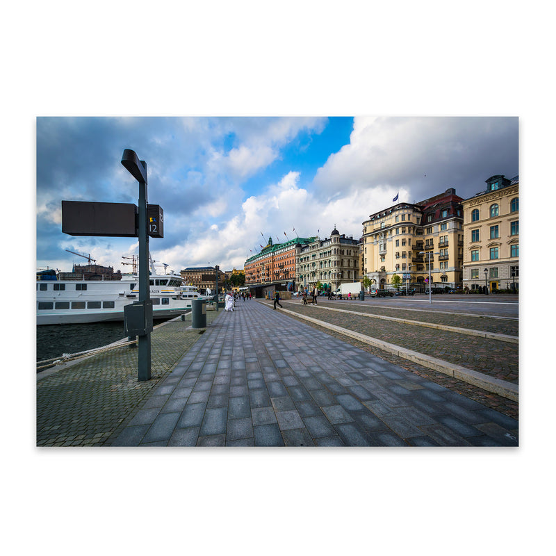 Stockholm Sweden Waterfront Metal Art Print