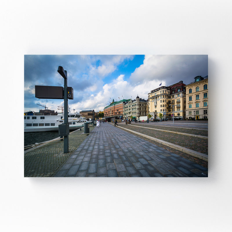 Stockholm Sweden Waterfront Mounted Art Print