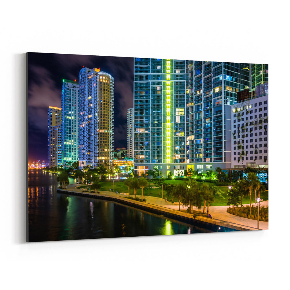 Miami Beach, Florida Skyline Canvas Art Print