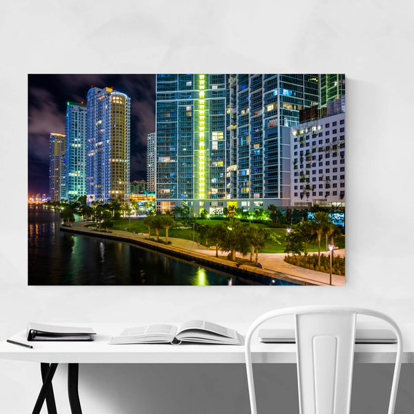 Miami Beach, Florida Skyline Art Print