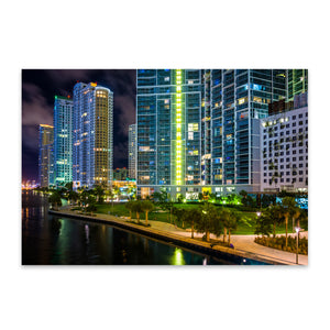 Miami Beach, Florida Skyline Metal Art Print