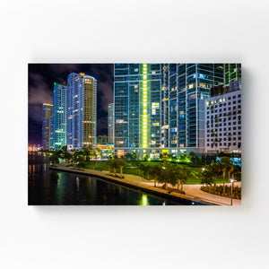 Miami Beach, Florida Skyline Mounted Art Print