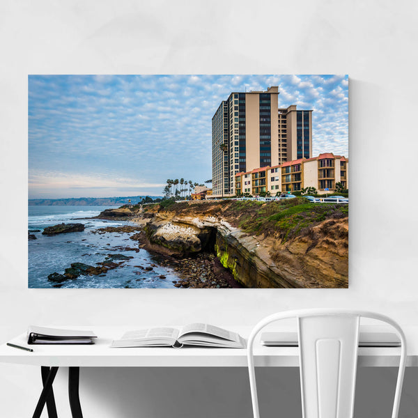 La Jolla California Beach Cliffs Art Print