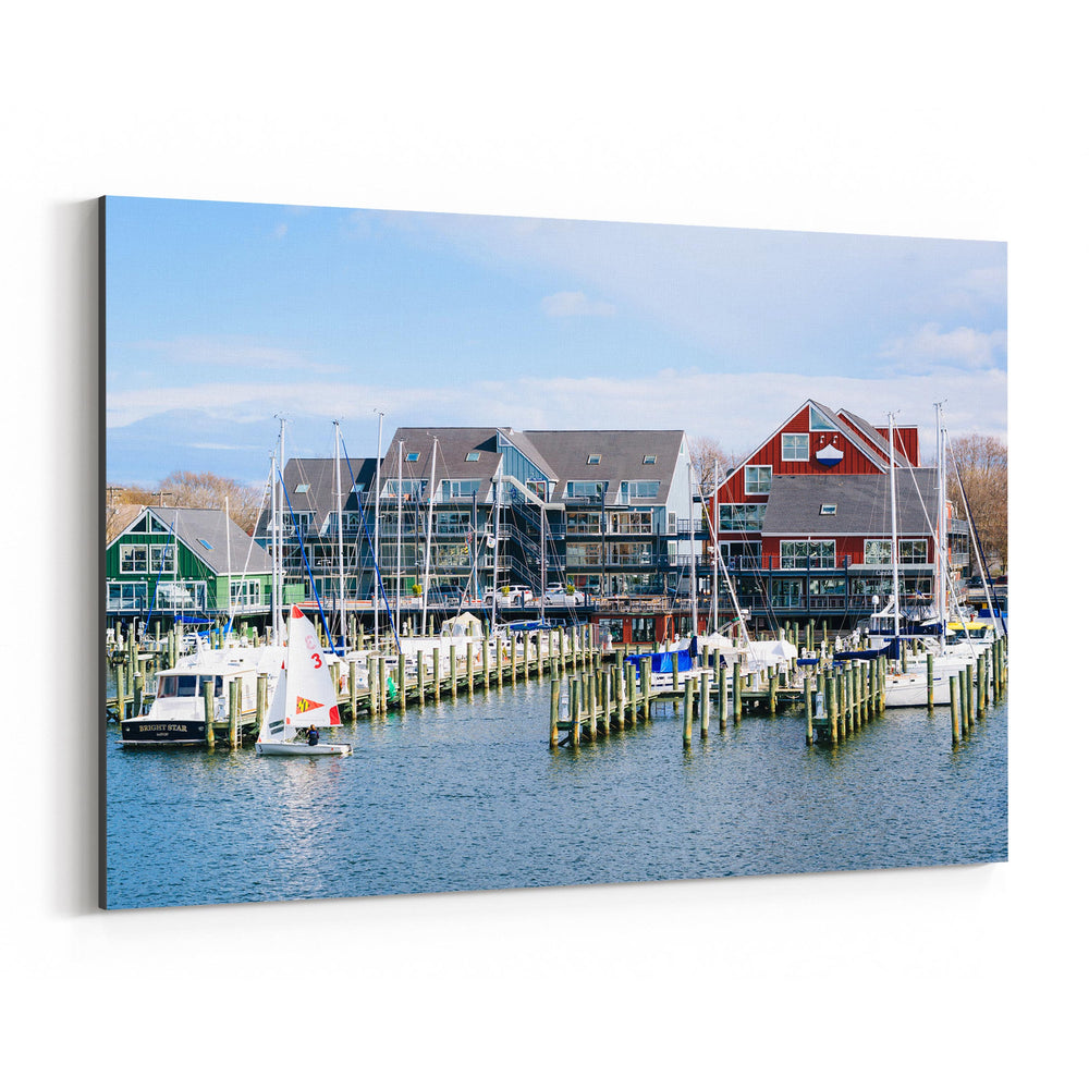 Annapolis Maryland Marina Boats Canvas Art Print