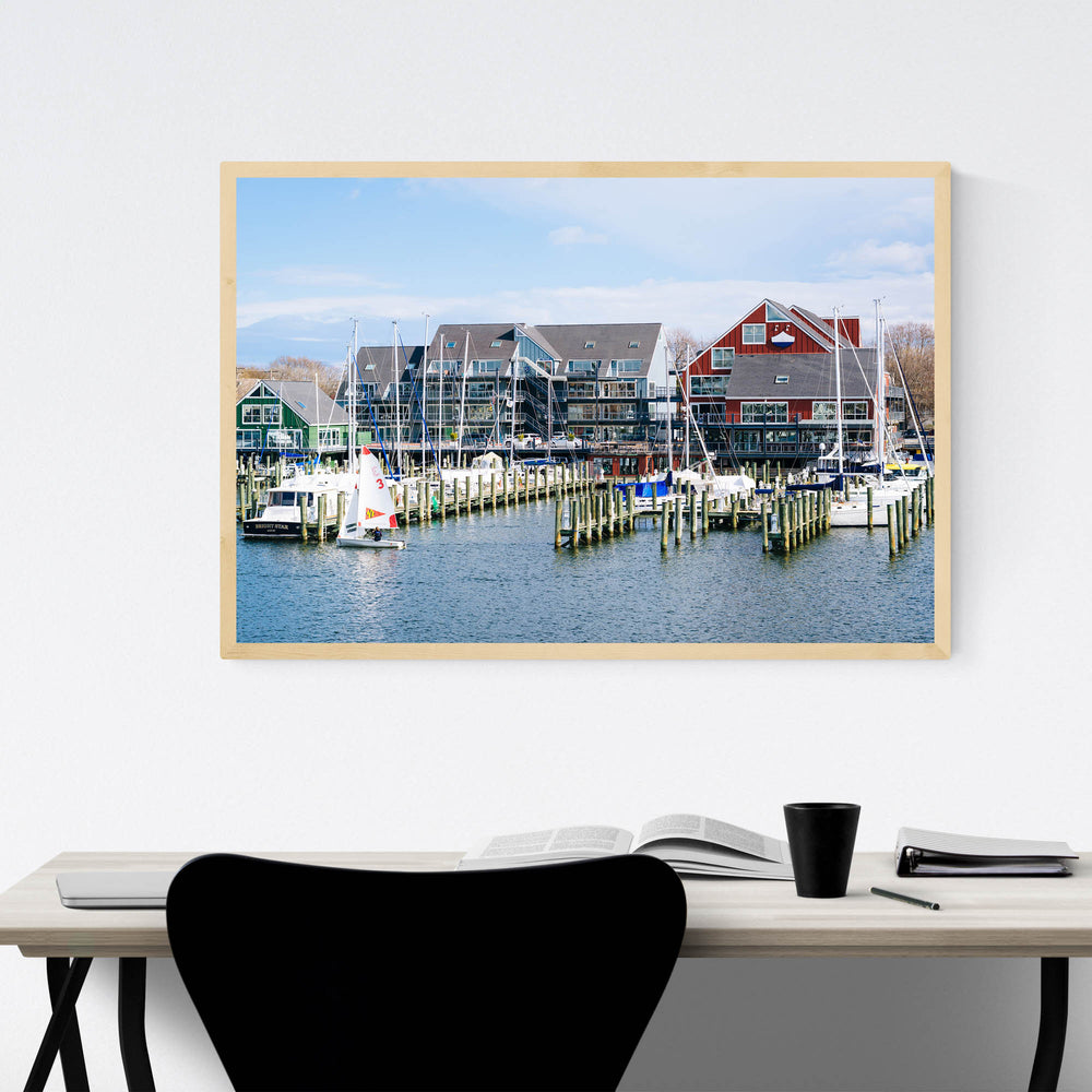 Annapolis Maryland Marina Boats Framed Art Print
