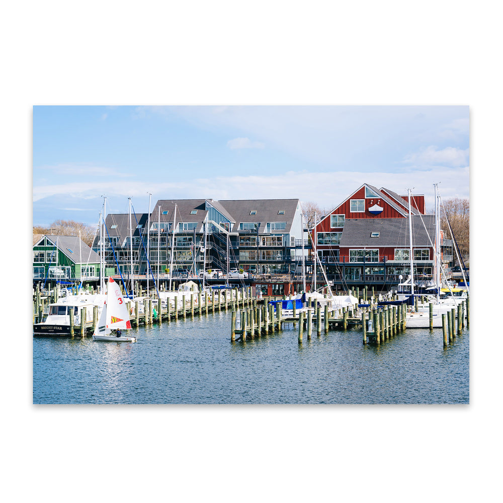 Annapolis Maryland Marina Boats Metal Art Print
