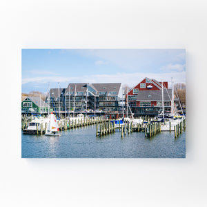 Annapolis Maryland Marina Boats Mounted Art Print