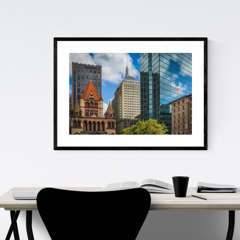 Boston Copley Square Urban Framed Art Print