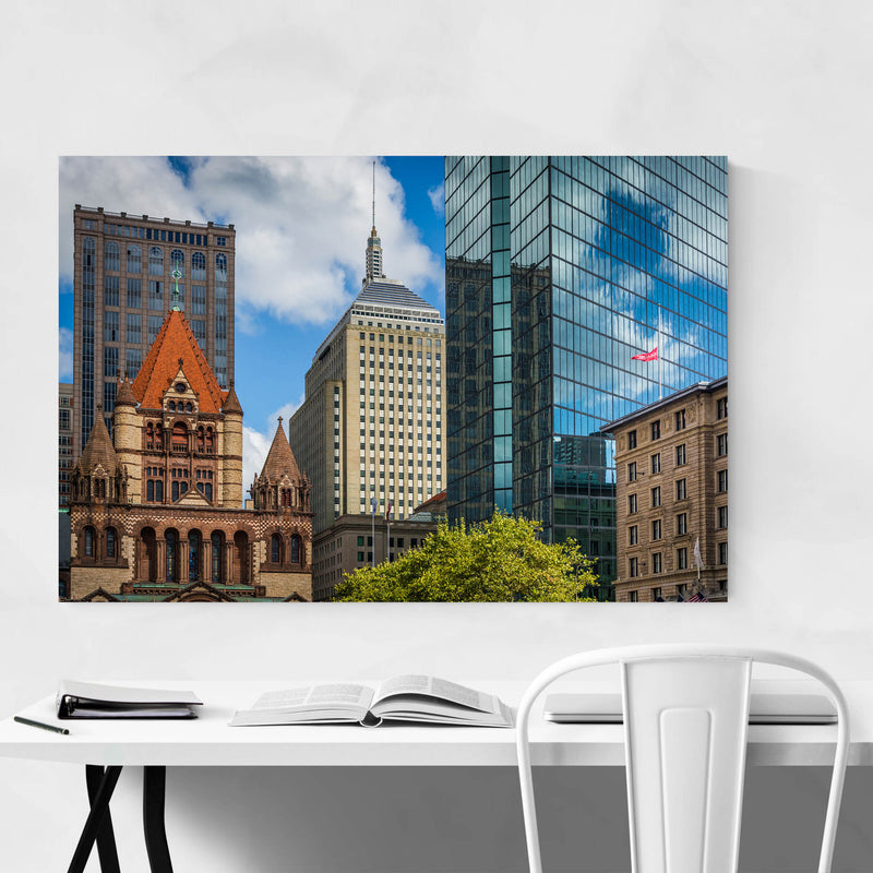Boston Copley Square Urban Art Print