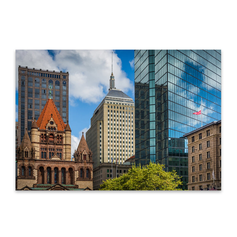 Boston Copley Square Urban Metal Art Print