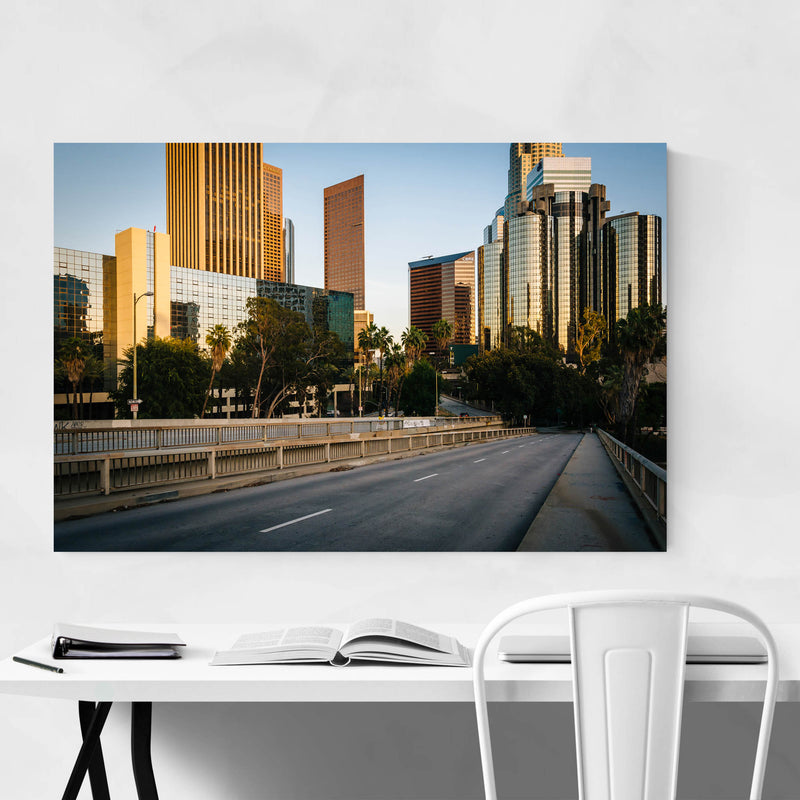 Downtown Los Angeles California Metal Art Print