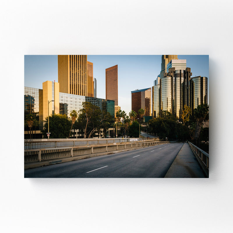 Downtown Los Angeles California Mounted Art Print