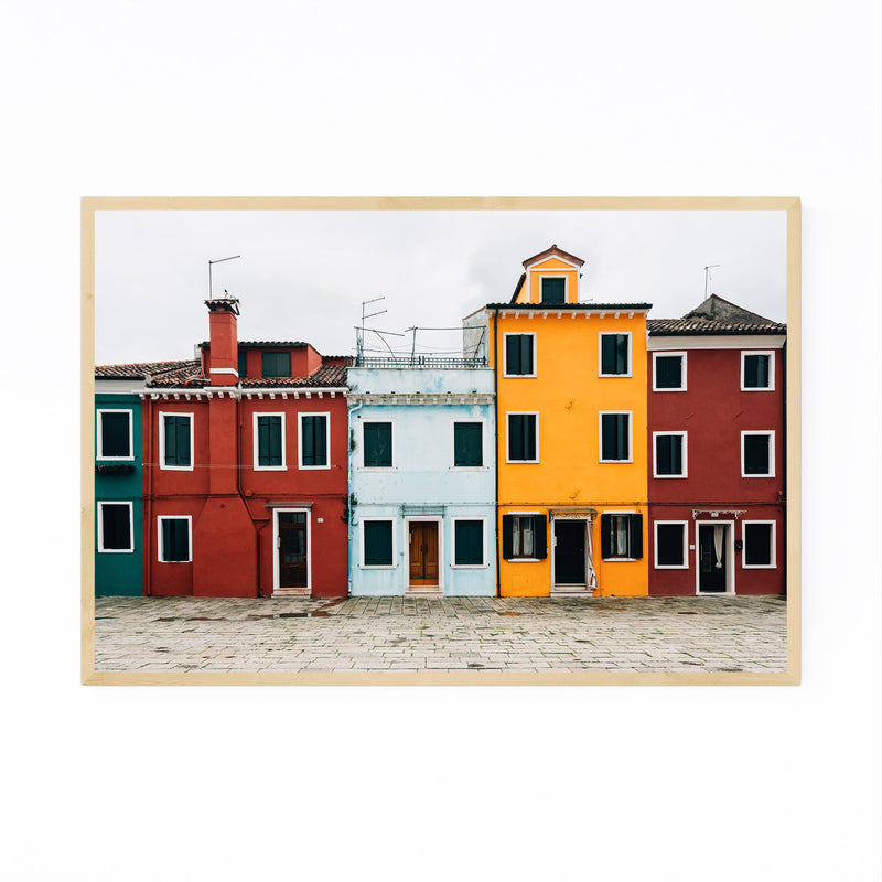 Venice Italy Colorful Burano Framed Art Print