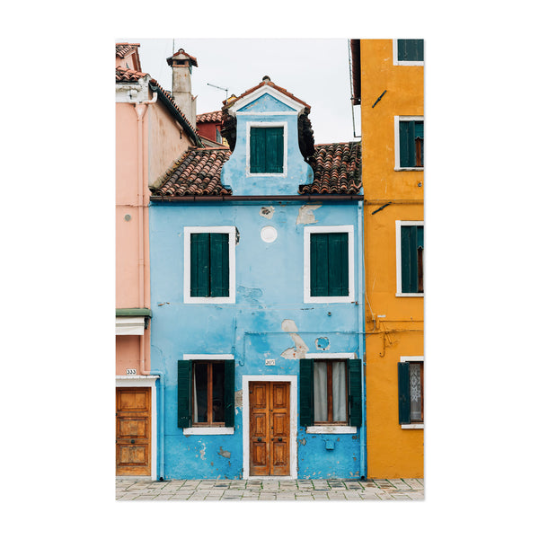 Venice Italy Colorful Burano Art Print