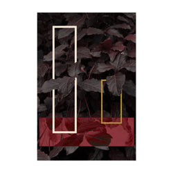 Geometric Abstract Leaf Digital Art Print
