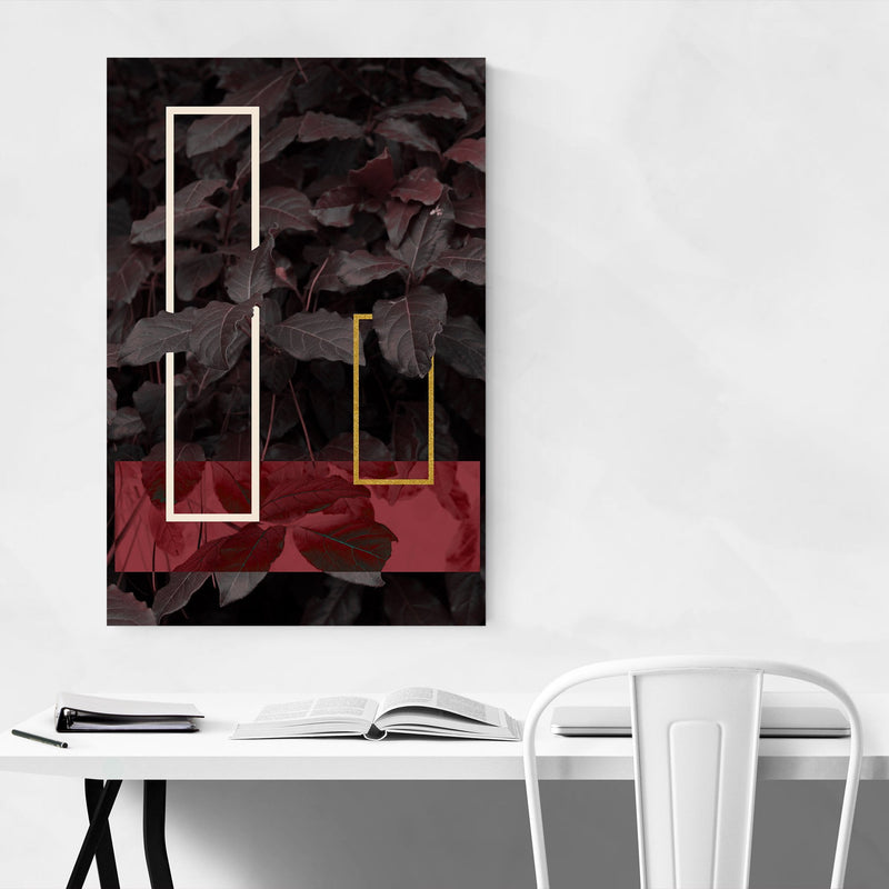 Geometric Abstract Leaf Digital Metal Art Print