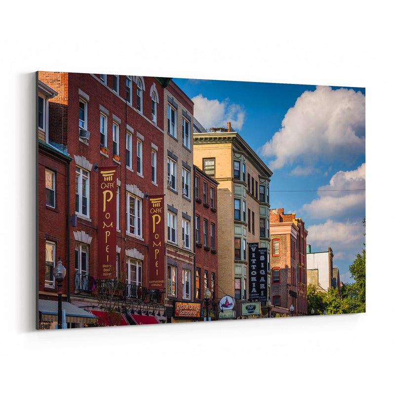 Boston North End Architecture Canvas Art Print