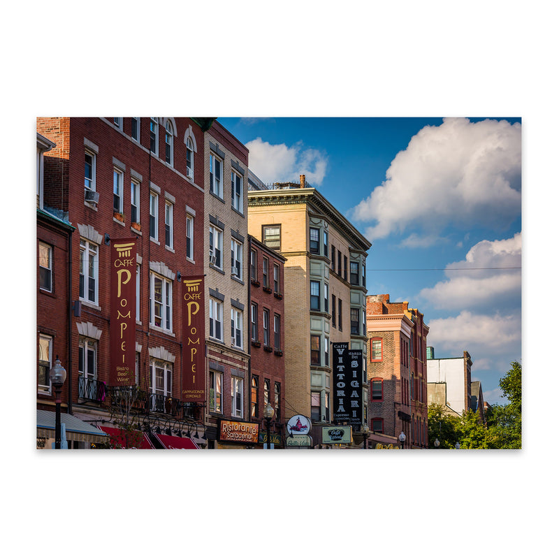 Boston North End Architecture Metal Art Print