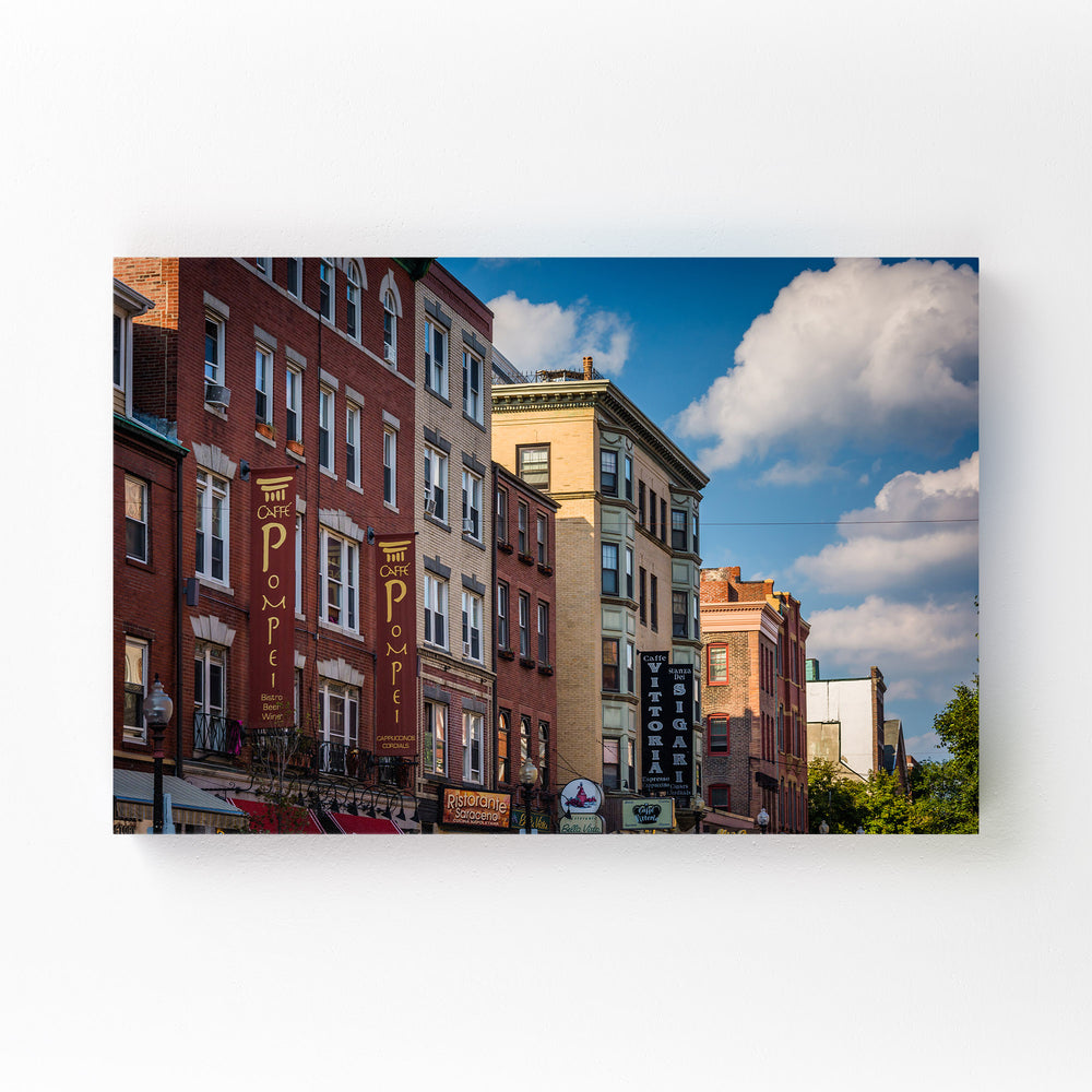 Boston North End Architecture Mounted Art Print