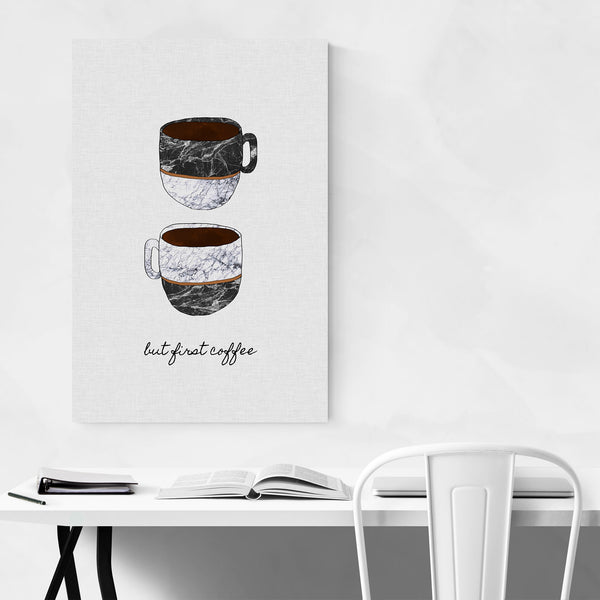 Cute Coffee Kitchen Typography Art Print
