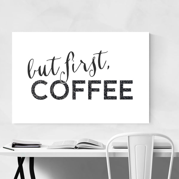 Coffee Kitchen Typography  Art Print