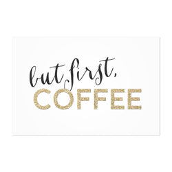 Gold Coffee Kitchen Typography  Art Print
