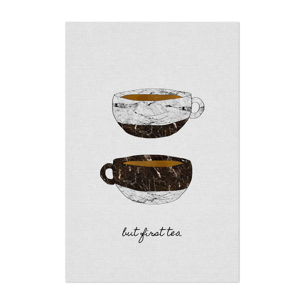 Cute Tea Cup Kitchen Typography Art Print