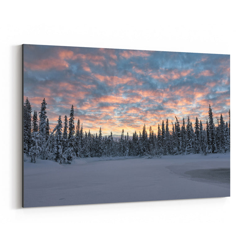 Lapland Finland Snowy Winter Canvas Art Print