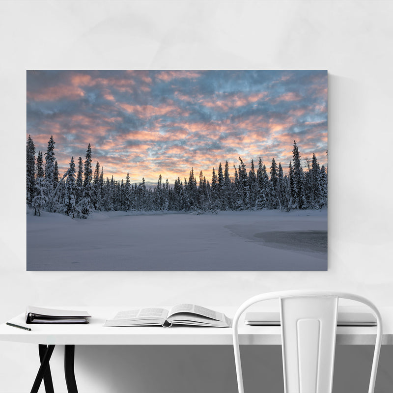 Lapland Finland Snowy Winter Metal Art Print