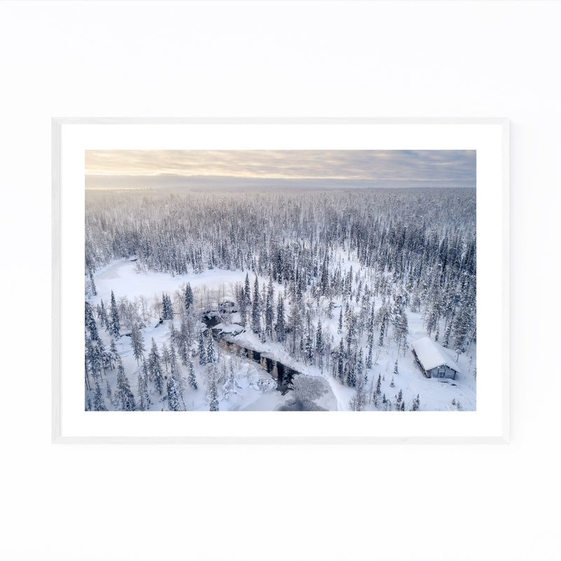 Lapland Finland Snowy Winter Framed Art Print