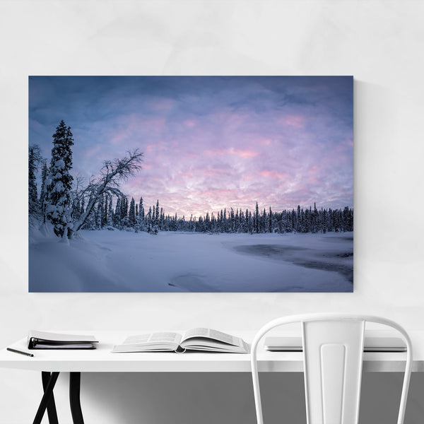 Lapland Finland Winter Lake Art Print
