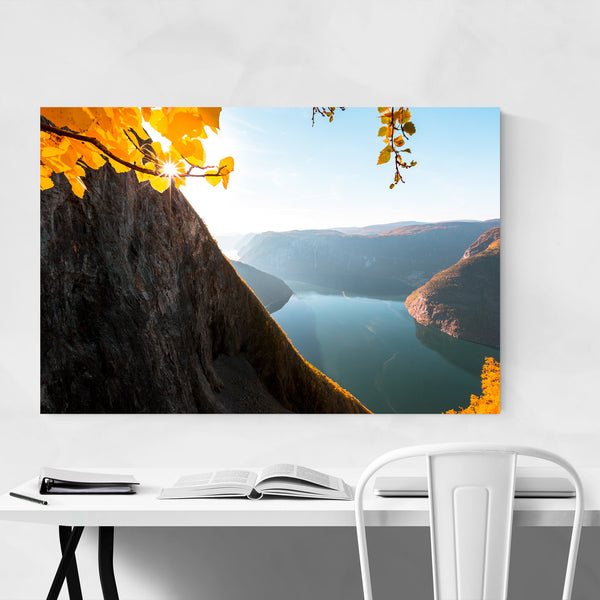 Autumn Fjord Norway Landscape Art Print