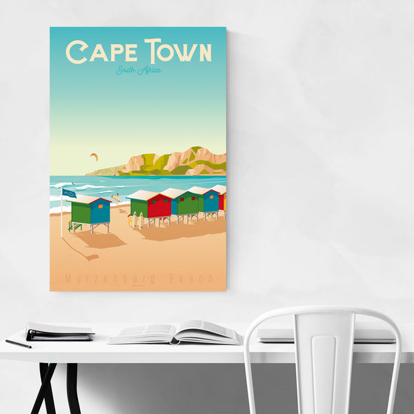 Vintage Cape Town Travel Print Art Print